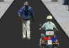 Газене с полицейски мотор